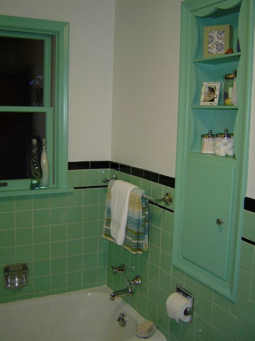 vintage green bathroom tile 36 retro green bathroom tile ideas and pictures 21237