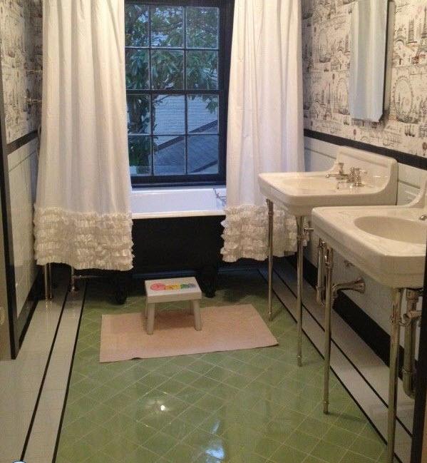 Http Www Tileideaz Com Retro Green Bathroom Tile Html