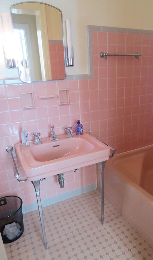 36 retro pink bathroom tile ideas and pictures for 1950 bathroom ideas