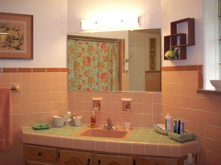 36 retro pink bathroom tile ideas and pictures 2019