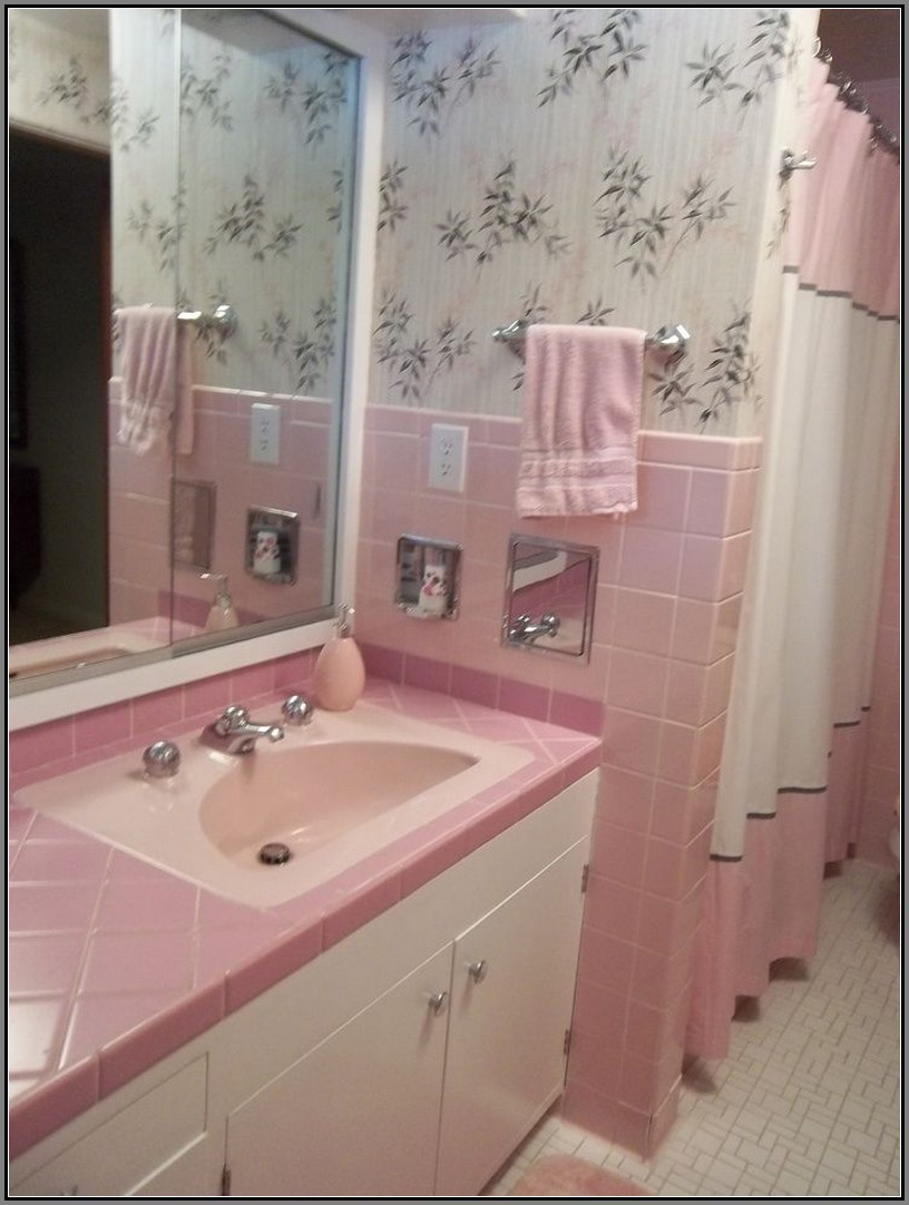 40 Vintage Pink Bathroom Tile Ideas And Pictures 2019