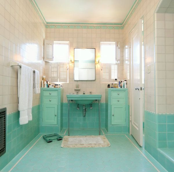 39 blue green bathroom tile ideas and pictures for 60 s bathroom ideas