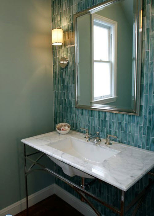 Bathtub Tile Ideas >> 39 blue green bathroom tile ideas and pictures