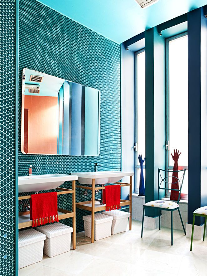 Fantastic 36 Baby Blue Bathroom Tile Ideas And Pictures