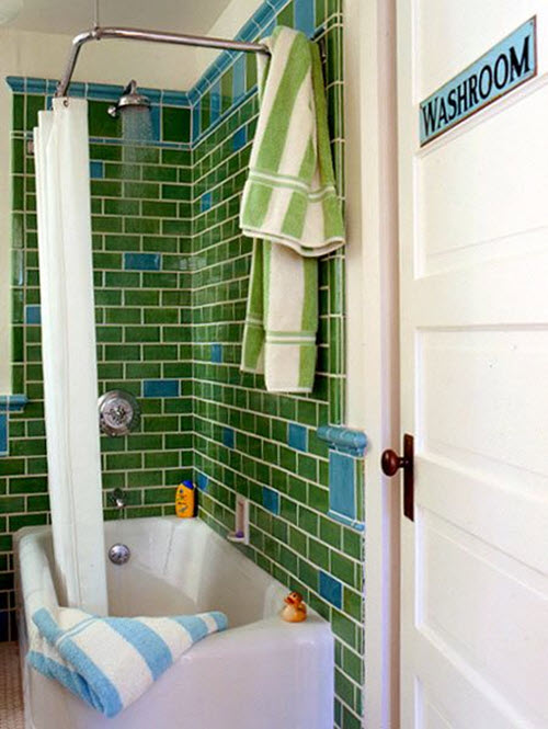 Wonderful Were Slightly Redoing Our Bathroom In Anticipation Of Selling Our House Within The Year The Front Bathroom Has This Bluegreen Tile With Untreated Saltillo Tile Floor The Saltillo Has Gotten Stained Over The Years It Was All Installed By A