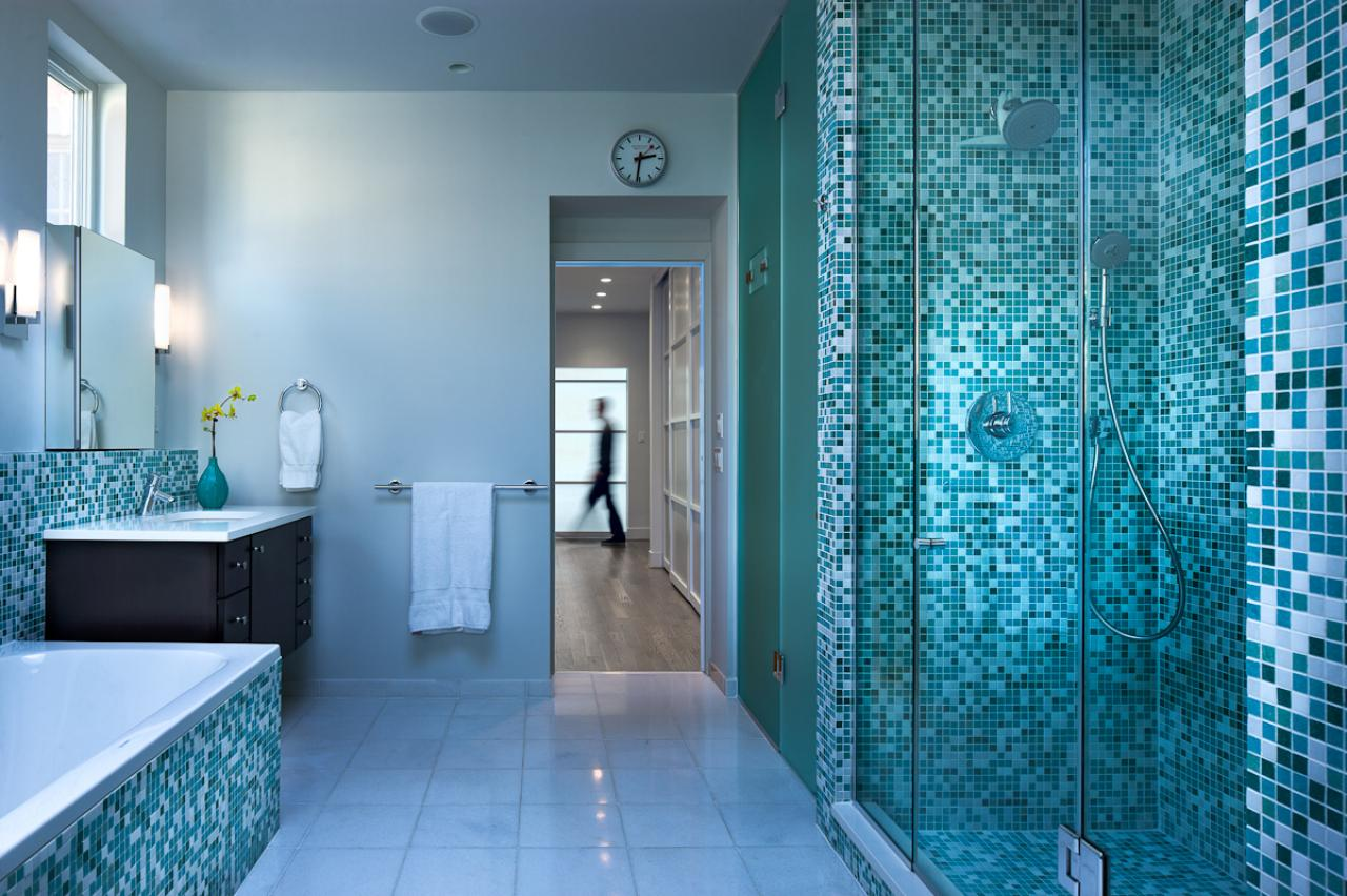 40 vintage blue bathroom tiles ideas and pictures - Carrelage bleu turquoise ...