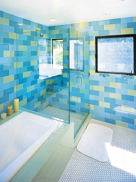 Fantastic Sky Blue Glass Subway Tile  Glasses Beaches And Decorating Tips