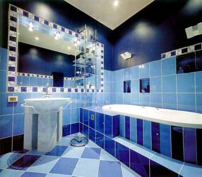 37 sky blue bathroom tiles ideas and pictures for Purple bathroom tiles ideas