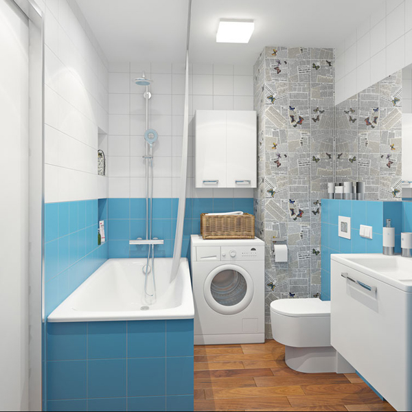 Blue Small Bathroom 2