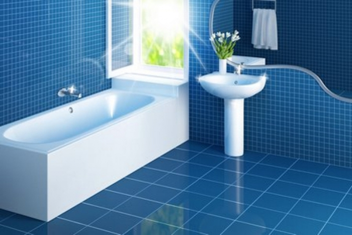 interior-diy-bathroom-remoled-with-blue-tile-in-big-and-small-styles-completed-by-white-bathroom-vanities-designing-interior-for-home-improvement-ideas-1