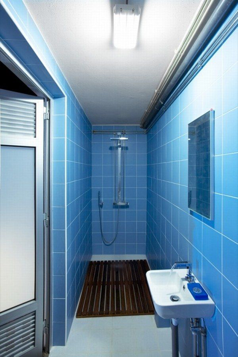 Retro Blue Bathroom Tile ... retro-blue-that-makes-fresh-effect-for-the- ...