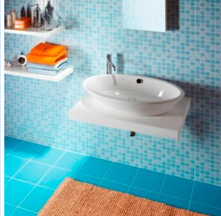 Awesome 37 Sky Blue Bathroom Tiles Ideas And Pictures