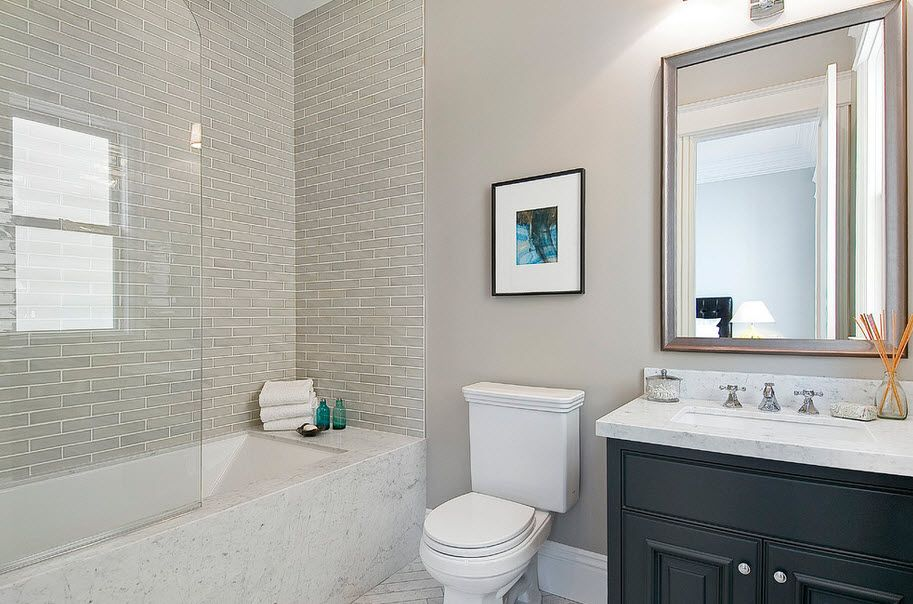 31 Pictures For Small Bathroom Subway Tile Ideas 2019