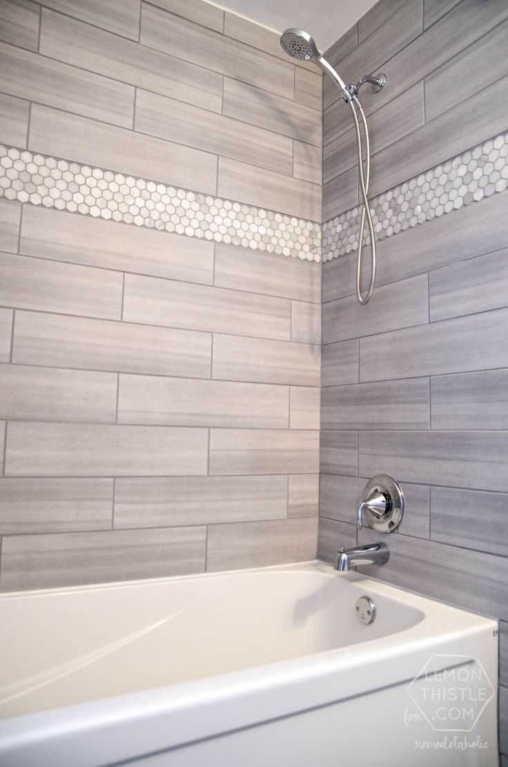 30 grey shower tile ideas and pictures - Tile shower surround ideas ...