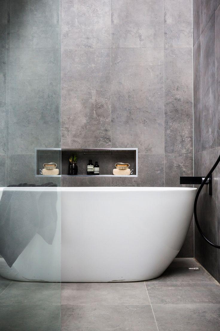 35 stunning ideas for the slate grey bathroom tiles in ...