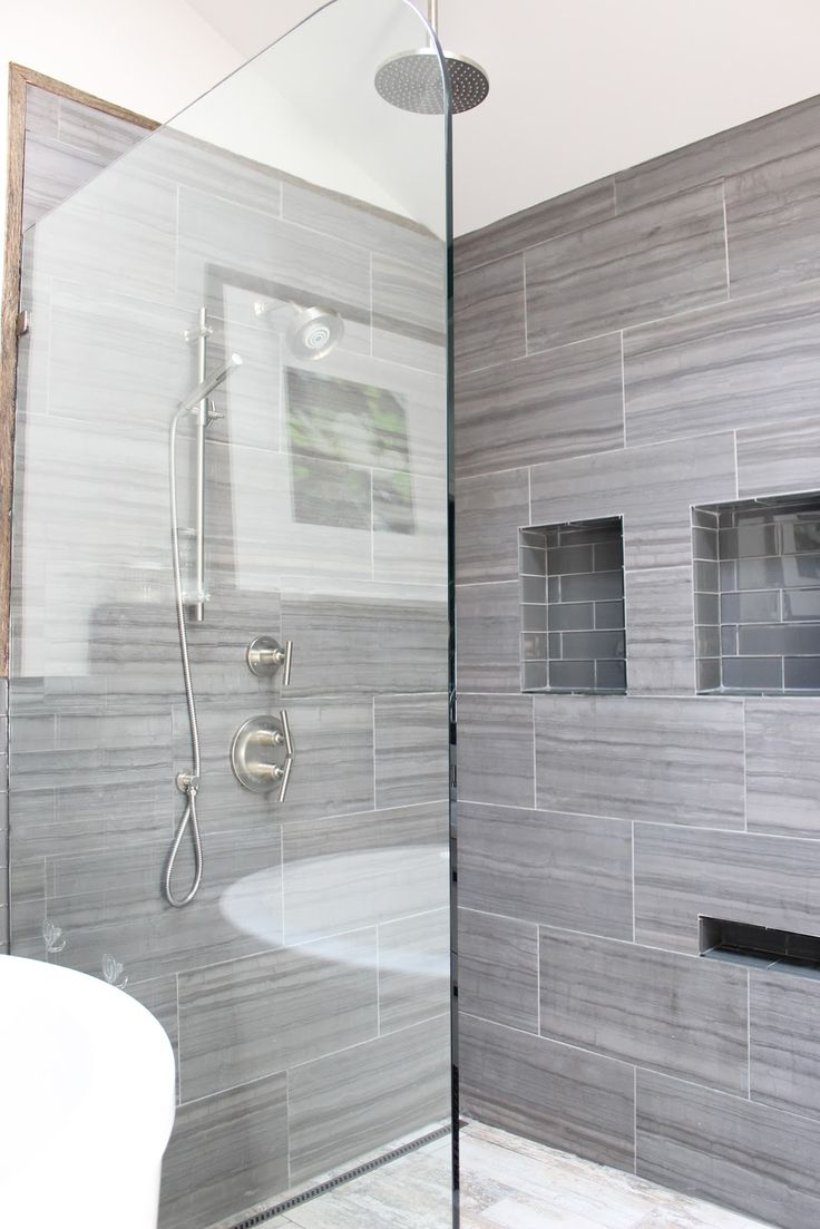 Bathroom Tiled Shower Design Ideas ~ Grey shower tile ideas and pictures