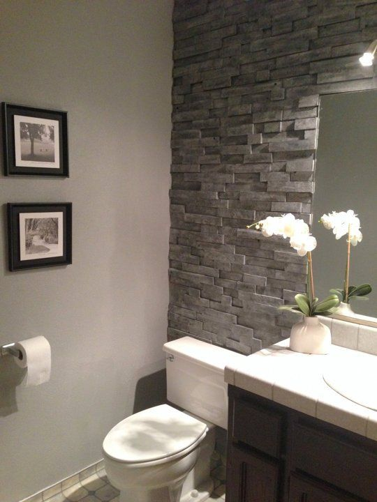 Natural Stone Bathroom Design Ideas ~ Grey natural stone bathroom tiles ideas and pictures