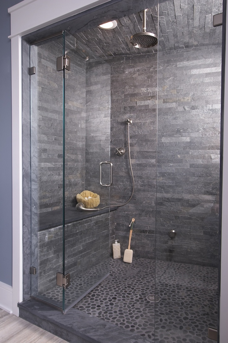 35 stunning ideas for the slate grey bathroom tiles in for Tile floors bathroom