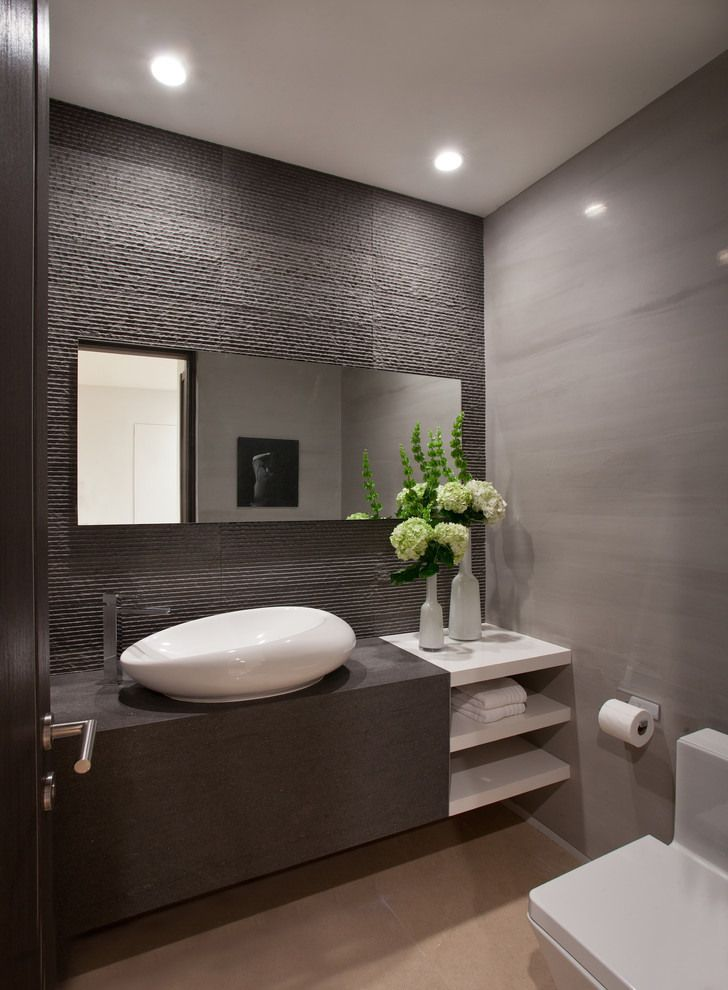 34 Great Ideas How To Use Grey Textured Bathroom Tiles 2019