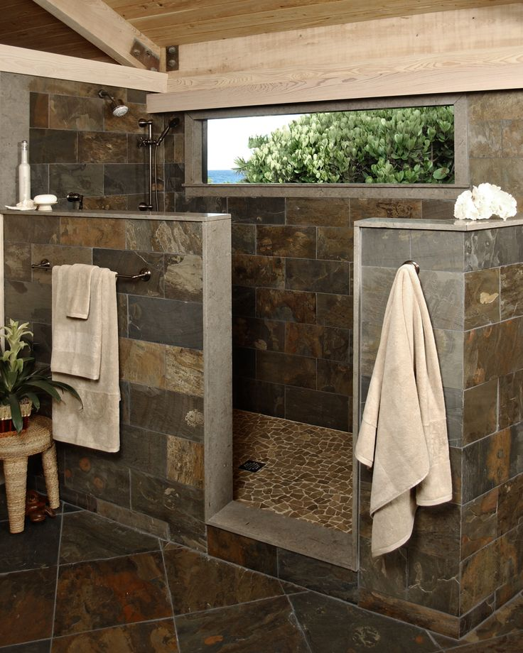 30 Exquisite And Inspired Bathrooms With Stone Walls: 30 Grey Natural Stone Bathroom Tiles Ideas And Pictures