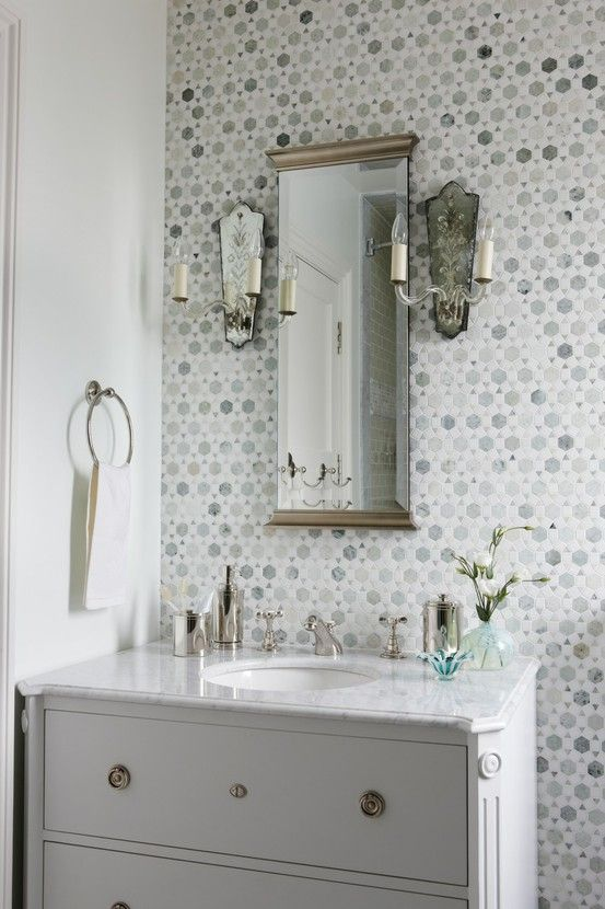 35 Grey Mosaic Bathroom Tiles Ideas And Pictures 2019