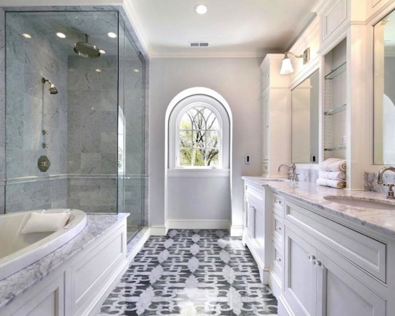 30 ideas about marble bathroom tiles pros and cons for Ideas for bathroom flooring
