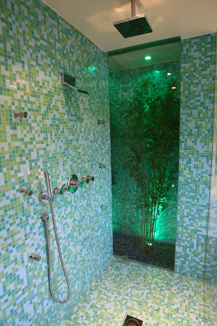 30 Great Bathroom Glass Tile Photos And Pictures