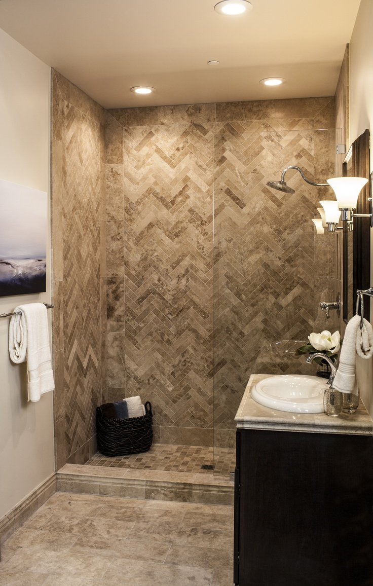 20 amazing pictures and ideas of travertine shower tile for Bathroom travertine tile designs
