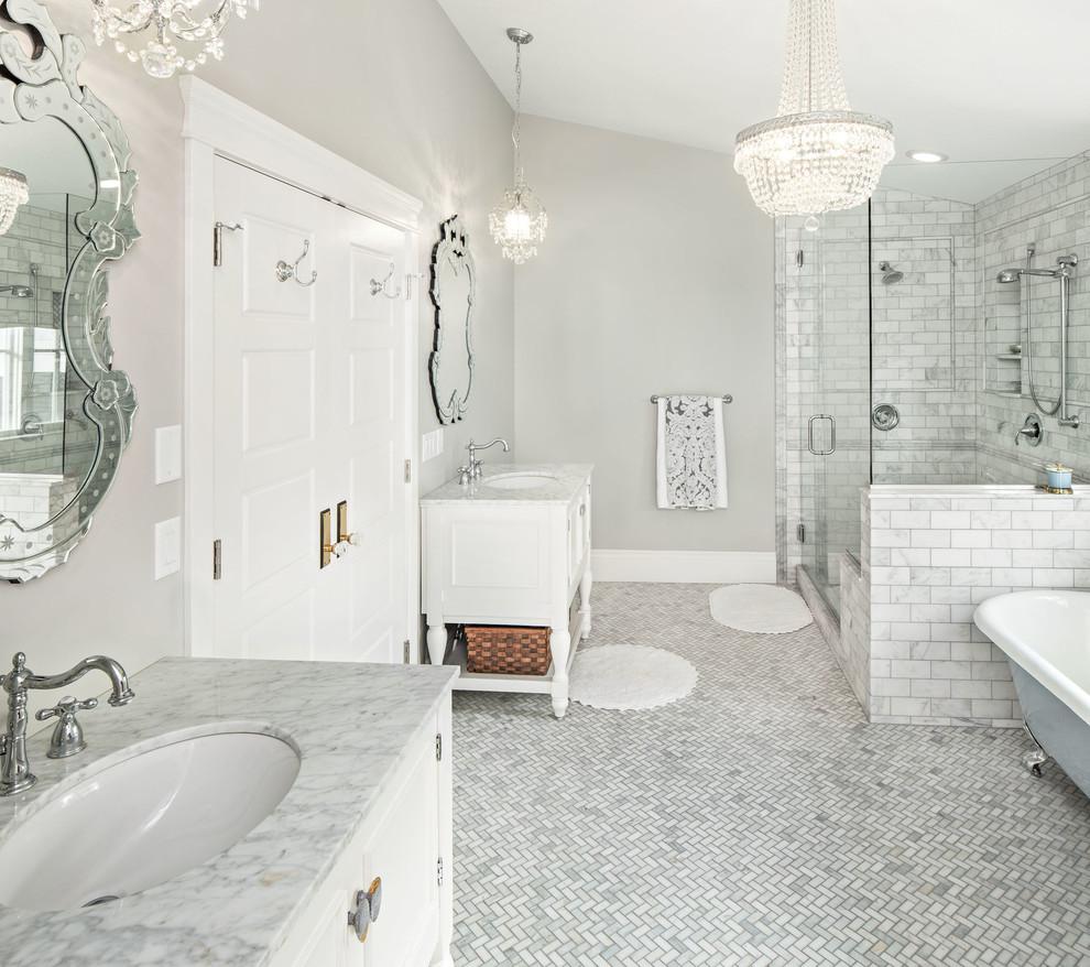 Polish Bathroom Tile: 22 Stunning Ideas Of Clean Marble Bathroom Tiles