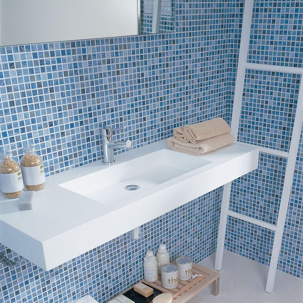 30 stunning pictures of glass mosaic tile for bathroom walls for Mosaic tile bathroom design