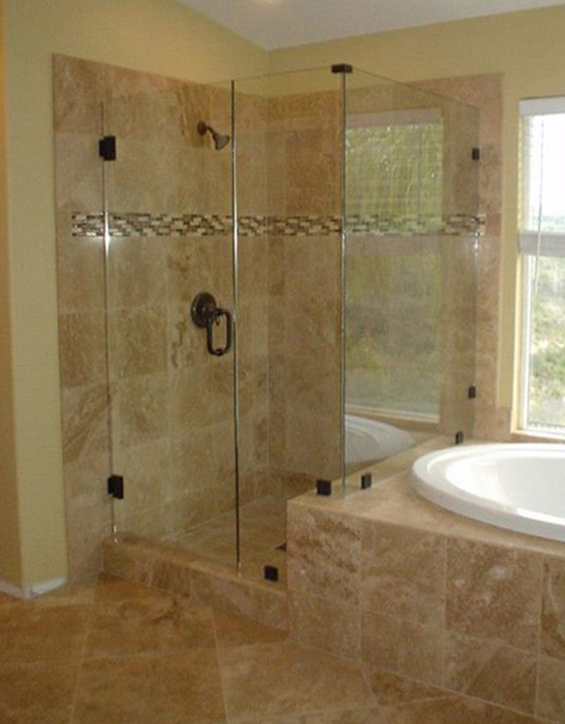 20 nice ideas of bathrooms with travertine tile pictures for Tiled bathroom designs pictures
