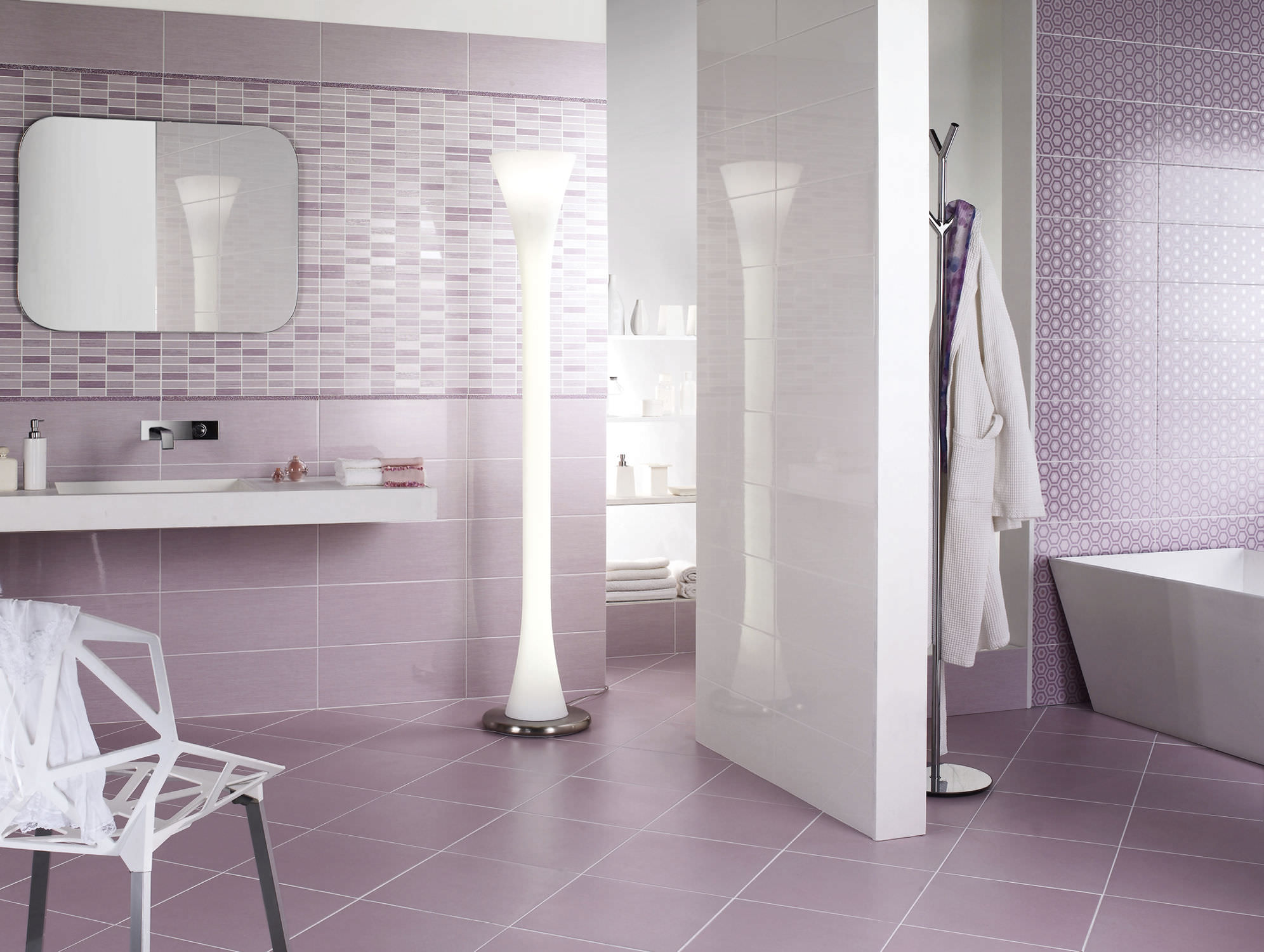 24 Nice Ideas How To Use Ceramic Tile For Bathroom Walls - Black-and-white-bathroom-york-by-novabell