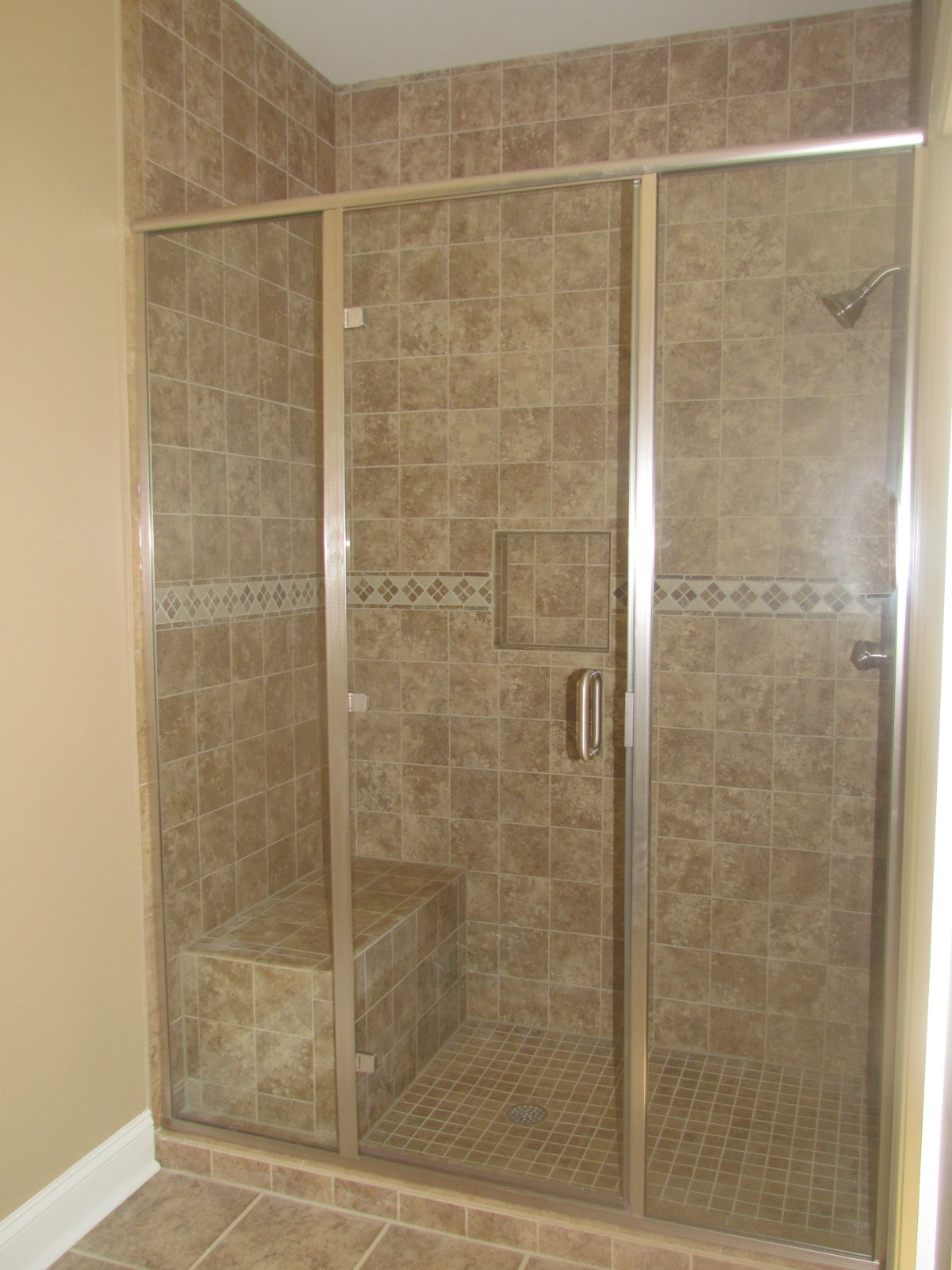 30 cool pictures of tiled showers with glass doors esign