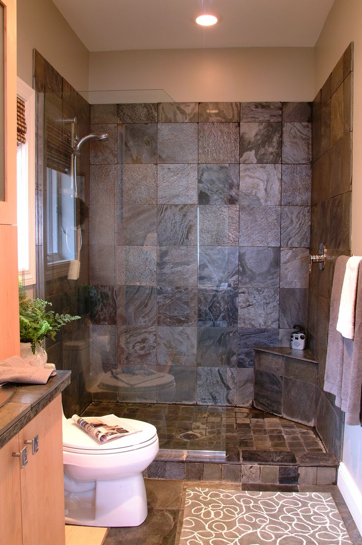 30 Exquisite And Inspired Bathrooms With Stone Walls: 30 Grey Natural Stone Bathroom Tiles Ideas And Pictures 2019