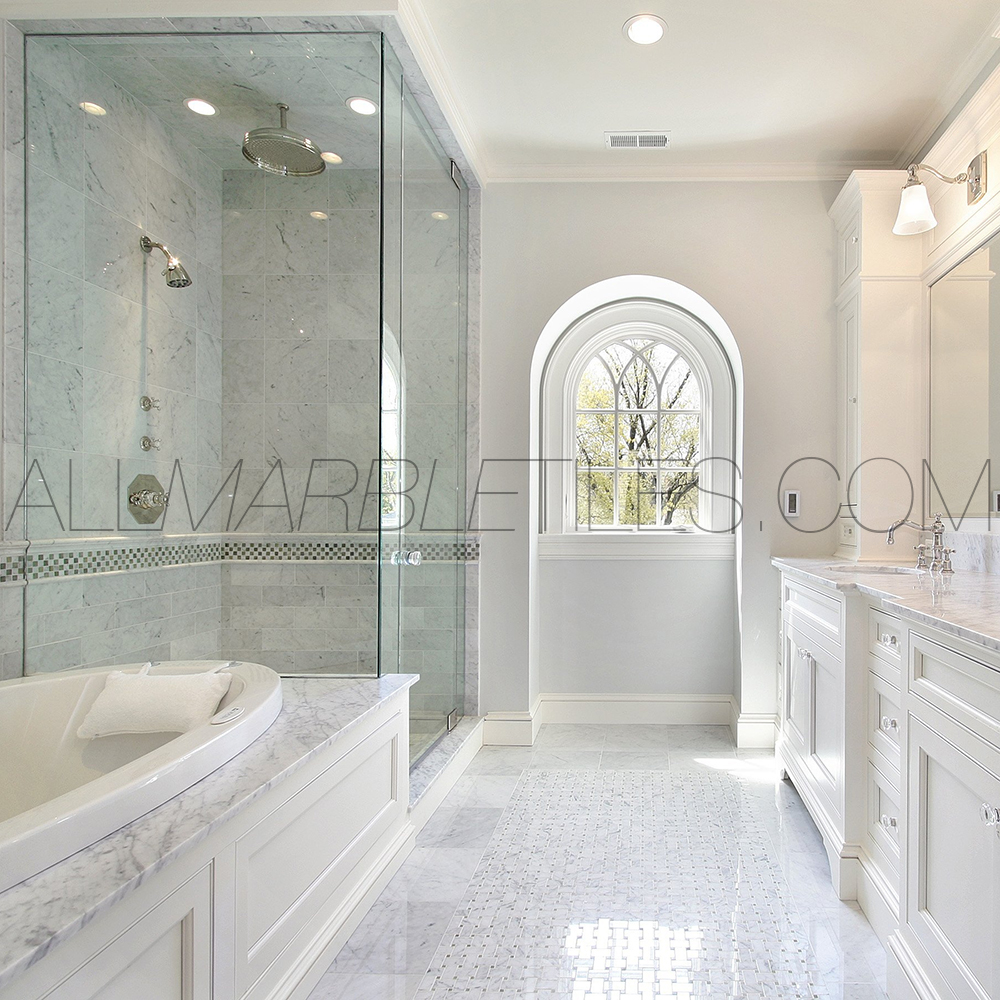 27 amazing polished marble tile for bathroom floor 20018
