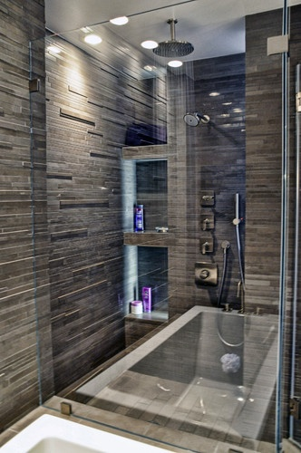 30 grey natural stone bathroom tiles ideas and pictures