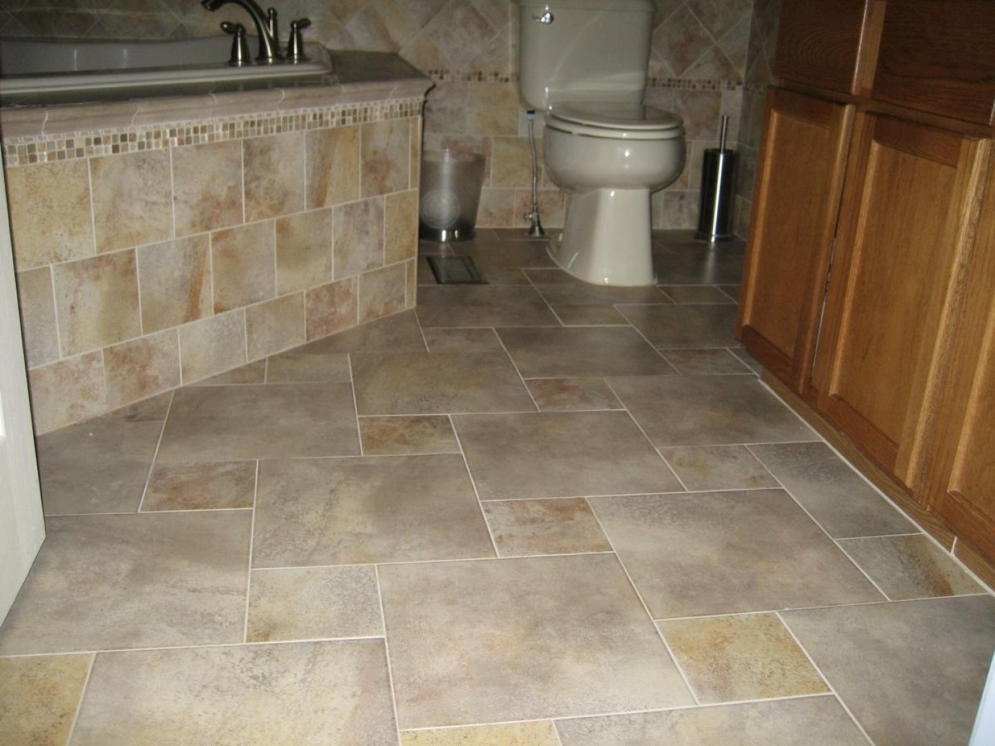 Bathroom Floor Ceramic Tile Design Ideas ~ Wonderful pictures bathroom large size ceramic tile
