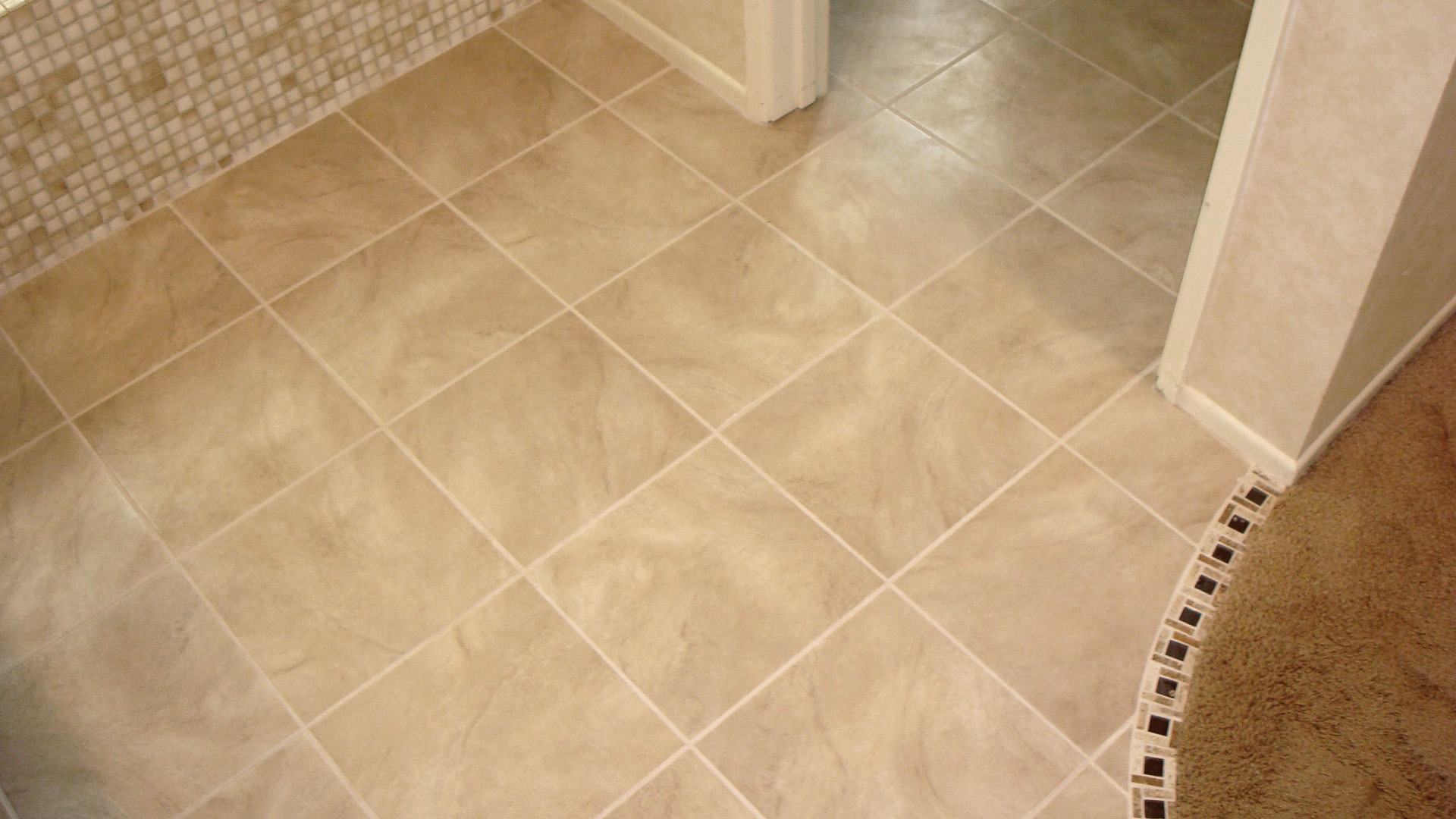 Tile a bathroom floor - 1 2 3 4 5