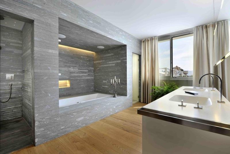Porcelain Wood Tile In Bathroom