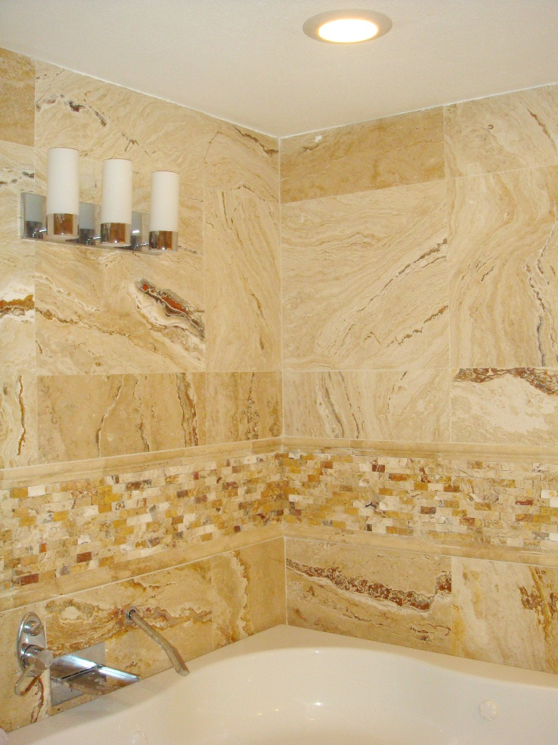 20 pictures and ideas of travertine tile designs for bathrooms for Travertine tile in bathroom ideas