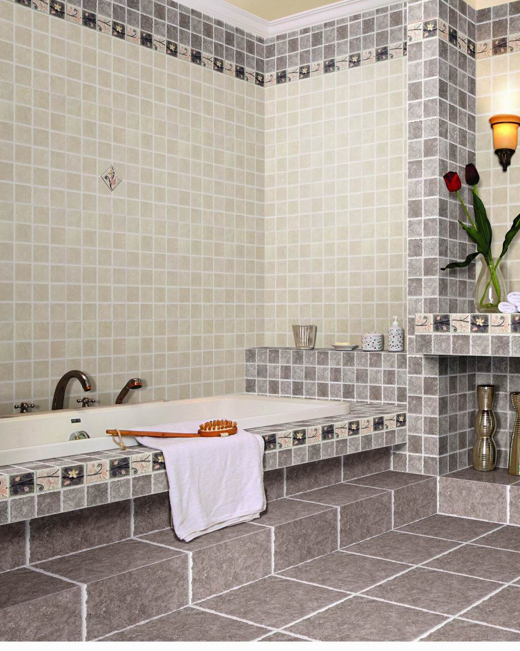 Tile designs for bathroom walls - 5 7