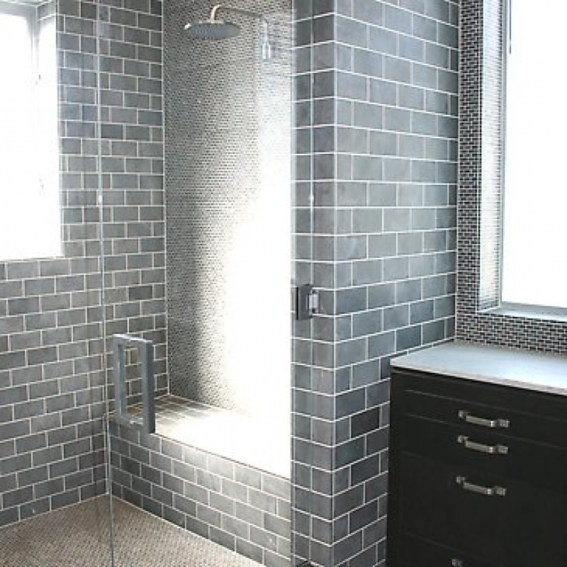 30 pictures for bathrooms with subway tiles Simple shower designs