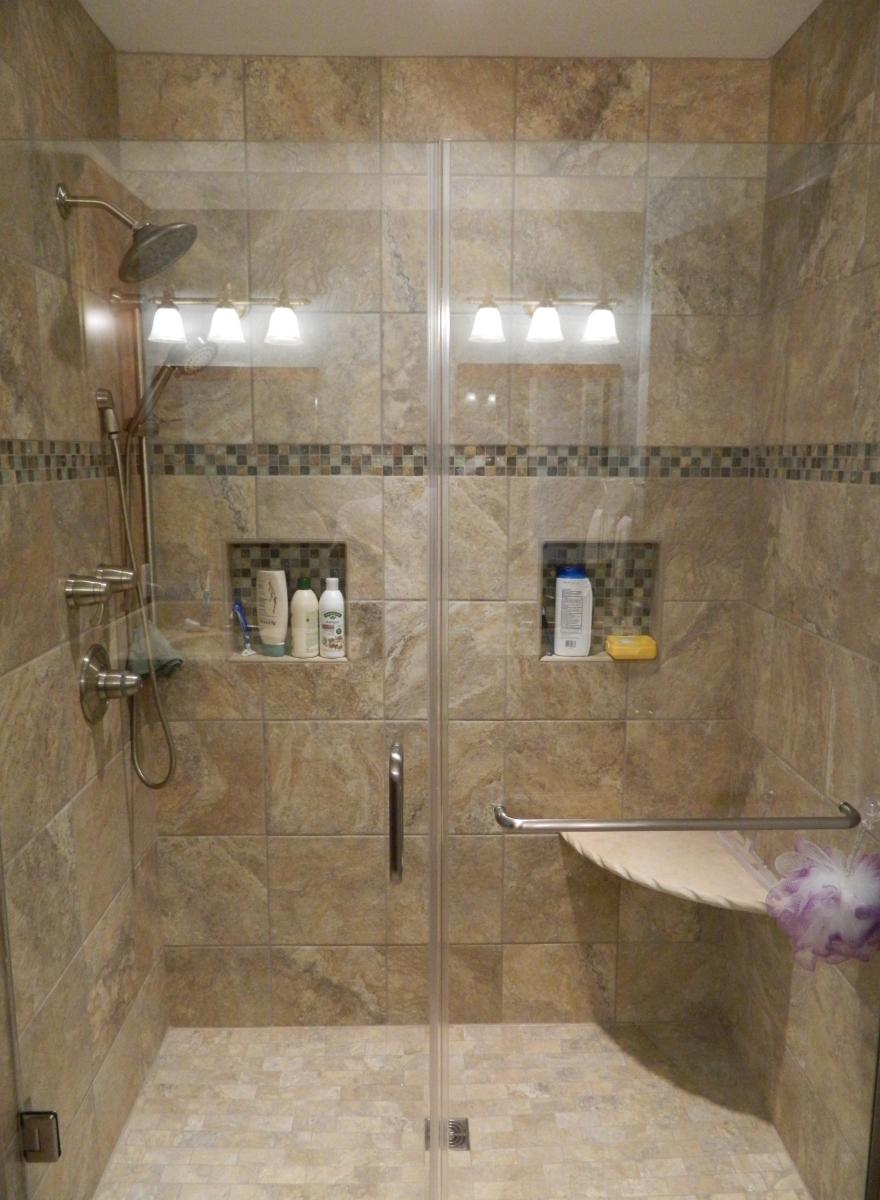 26 amazing pictures of ceramic or porcelain tile for shower for Bathroom ideas no tiles