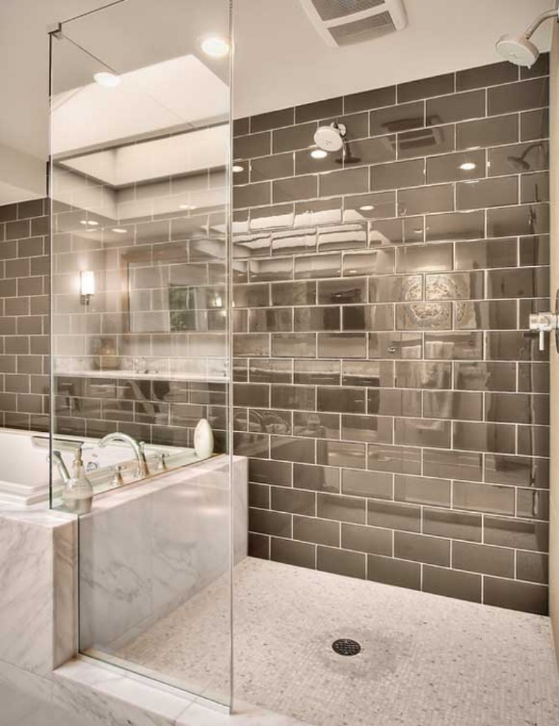 30 pictures of bathroom design with large subway tile