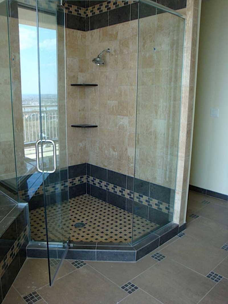 glass tile bathroom walls 6 13 25 9