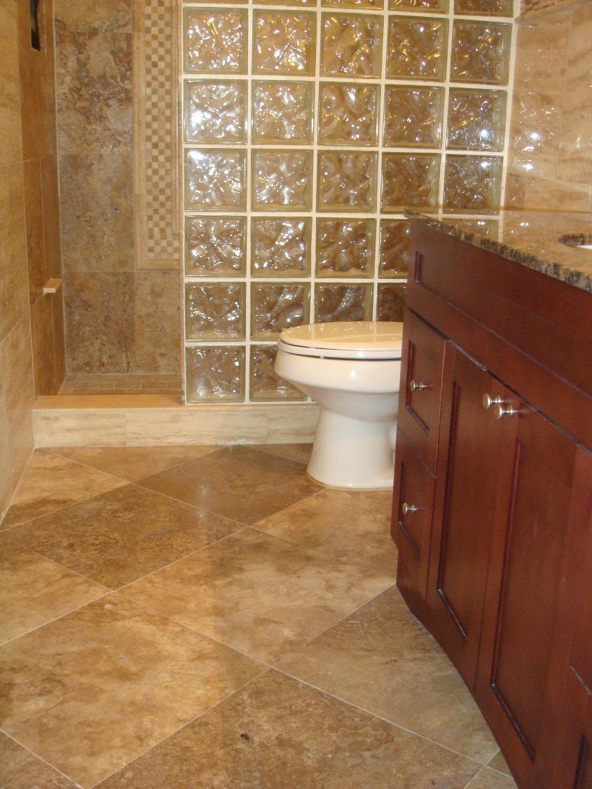 Stone Bathroom Floor Tiles