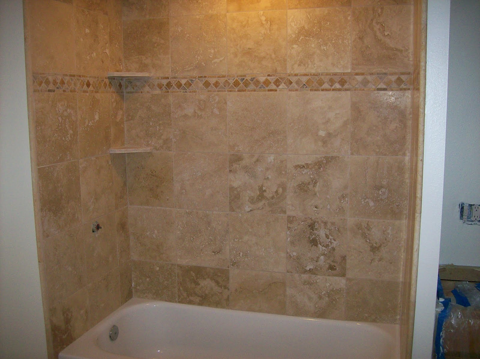 20 pictures about is travertine tile good for bathroom floors with ideas - Tile shower surround ideas ...