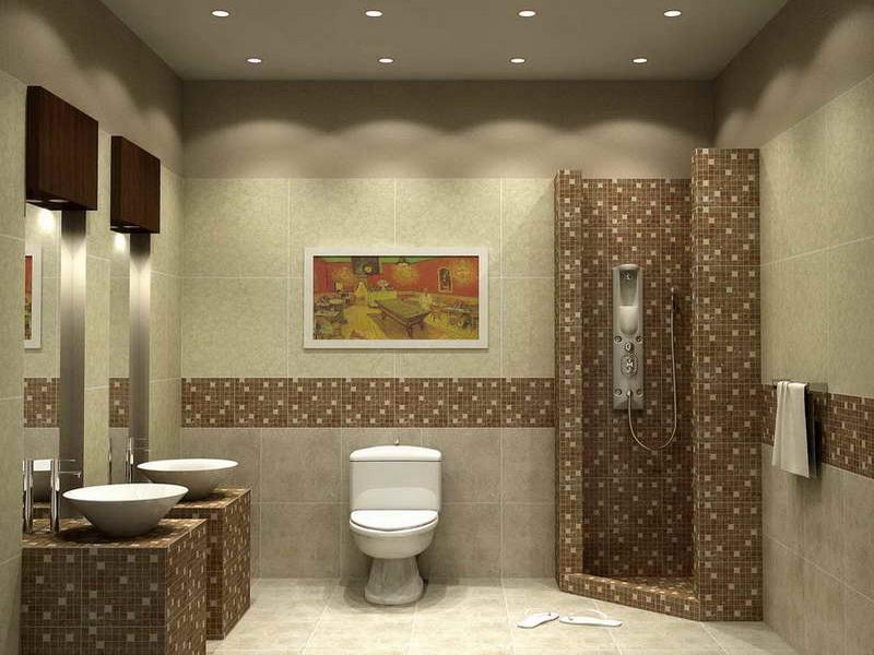 Unique Small Bathroom Tile Ideas Pictures O Inside Inspiration