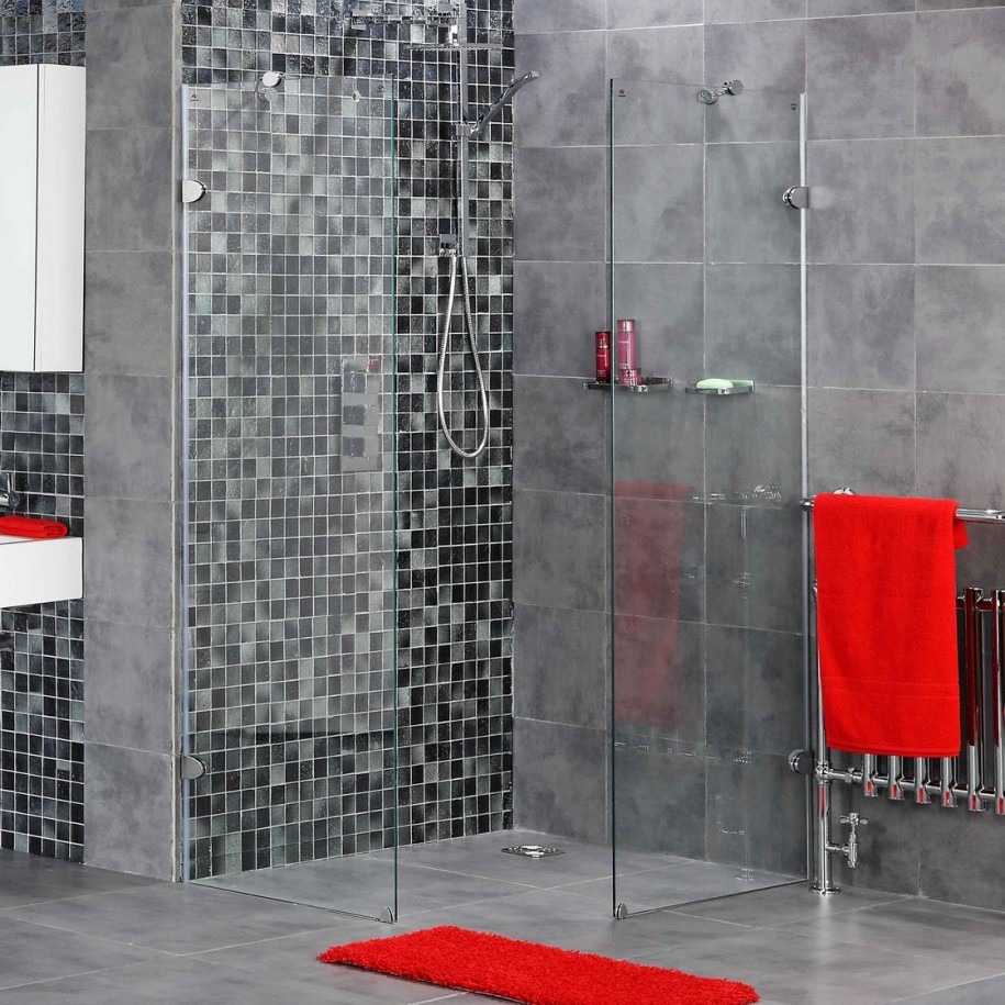 Bathrooms-Outstanding-Walk-In-Shower-Design-Inspiration-In-Black-Mosaic-And-Grey-Ceramic-Tiles-Wall-Deluxe-Bathroom-Decor-Innovative-Modern-Walk-In-Shower-Design-Ideas-Li