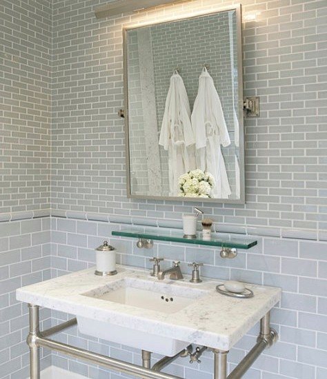 30 pictures for small bathroom subway tile ideas